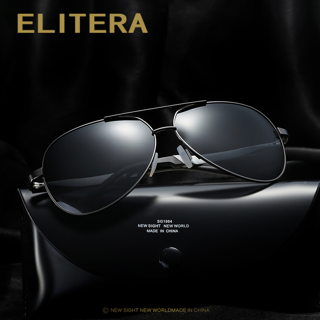 012bcdf2ffb ELITERA Brand HD Polarized Sunglasses Men Male Sun Glasses Brand Design Fishing  Driving Sunglasses Goggle Classic
