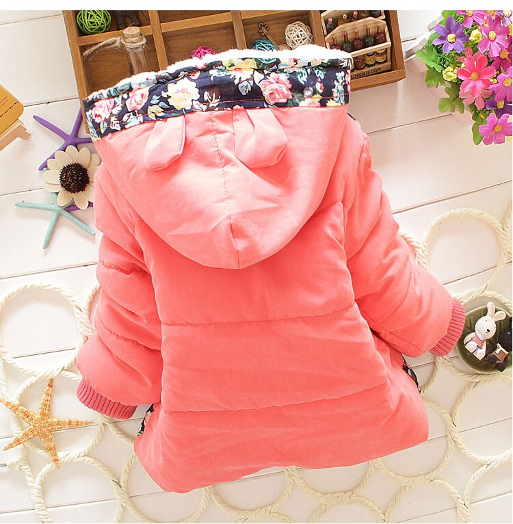 Big Size Baby Girls Jackets 17 Autumn Winter Jacket For Girls Winter Minnie Coat Kids Clothes Children Warm Outerwear Coats 7