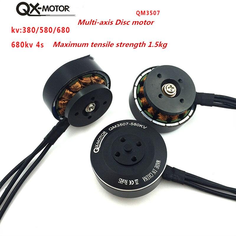 QX MOTOR QM3507 380/580/680KV moteur Brushless pour RC Multirotor quadrirotor Hexa Drone pièces en gros - 5