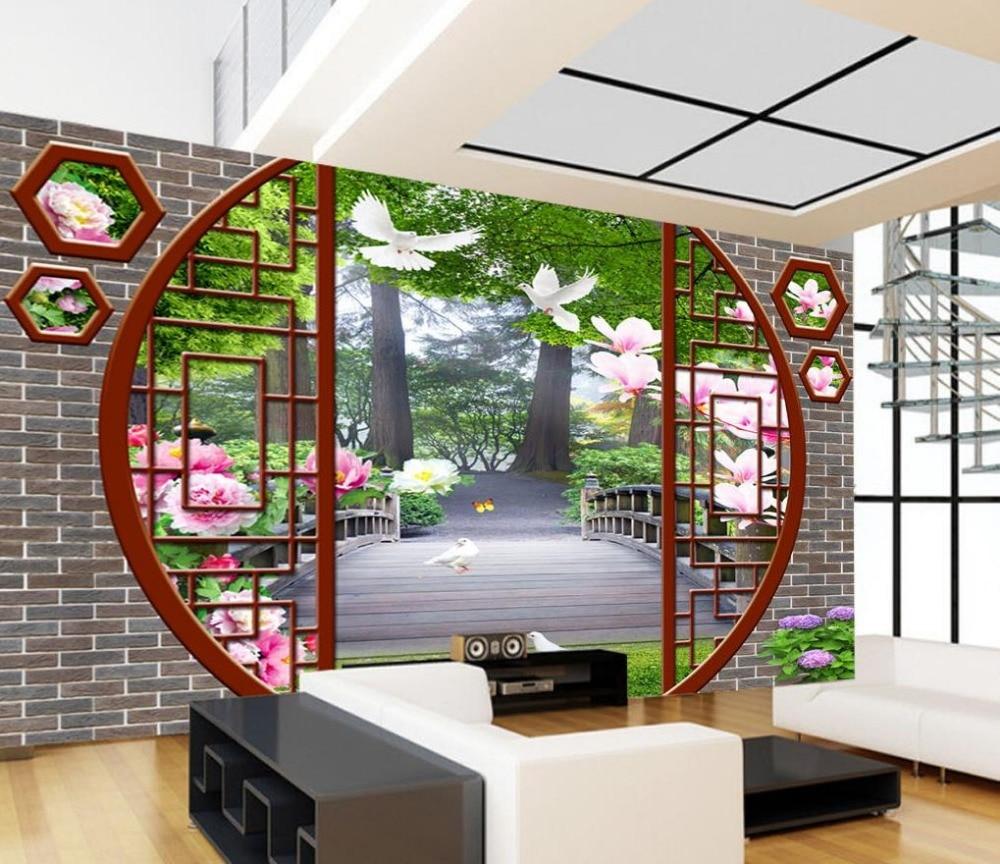 Home Design 3d Outdoor Garden On The App Store: 3d Wallpaper For Room Doors And Windows Scenery Murals