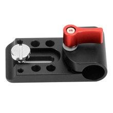 F09271 suporte poroso universal braçadeira de montagem para 15mm haste suporte ferroviário siga foco rig dslr 5d2 gh2 +