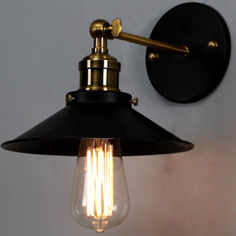 Retro industry Lamp house retro industrial loft bedroom bedside lamp stairways outdoor wrought iron balcony wall lamp