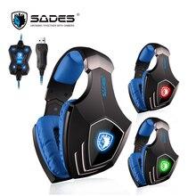 SADES A60 7 1 Surround Sound Gaming Headset USB Headphones Vibration Bass