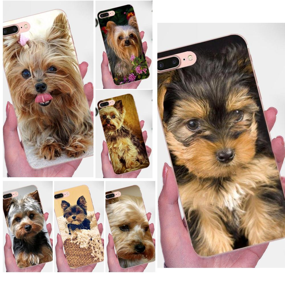 For Xiaomi Redmi Note 2 <font><b>3</b></font> 3S 4 4A 4X 5 5A 6 6A Pro Plus Soft TPU Protector Yorkshire Terrier <font><b>Dog</b></font> image