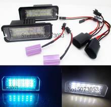 Lámpara de luz LED para placa de matrícula para coche, para VW, Eos, Golf6, Golf7, Amarok, Beetle, Polo, Passat B6, CC, Phaeton, B7, Scirocco, Lupo