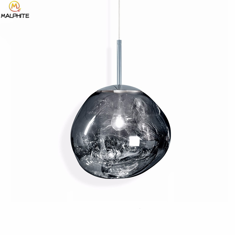 Modern Glass Lava Tom DIXON Pendant Light Lustre LED Luminaire Silver Hanglamp lamparas de techo modernas decor light fixturesModern Glass Lava Tom DIXON Pendant Light Lustre LED Luminaire Silver Hanglamp lamparas de techo modernas decor light fixtures