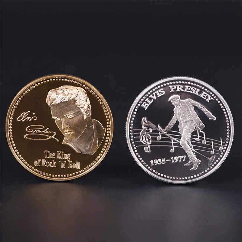 Elvis Presley памятная монета 1935-1977 король N рок-ролл золото памятная монета подарок