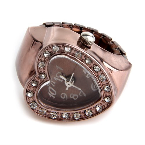 YCYS-20 mm Ring Watch Finger Watch Ring Rose Gold