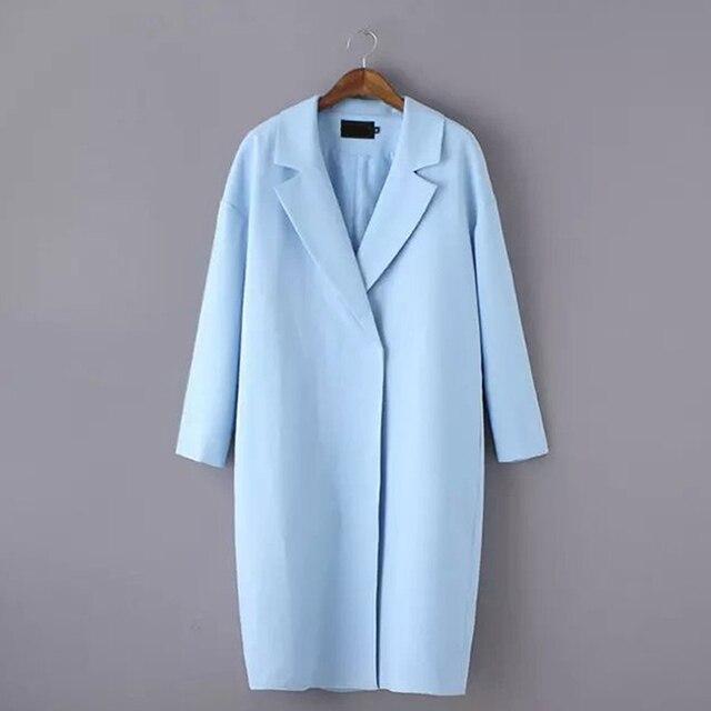 5d9d73ee90ce 2018 Women Winter Wool Blends Coat Womens Long Sleeve Slim Thicken ...