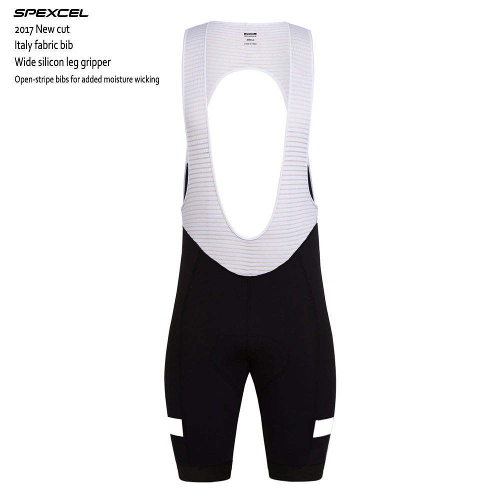 SPEXCEL 2017 NEW CROSS CYCLING BIB SHORTS Hot summer race cycling bottom with Italy grippers leg and 3D cut high density PAD