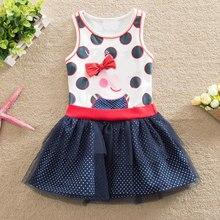 ФОТО baby girl summer clothing 2016 children printed fashion cartoon pig princess dress for girls children cotton clothes baby dress