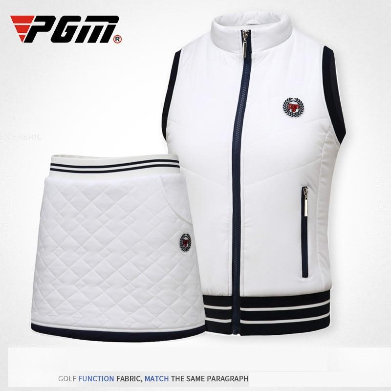 2018 PGM Winter Clothes Wear Autumn Warm Vest Thick Velvet Golf Jackets for Women Outdoor Waistcoat Windbreaker Vest size S-XL