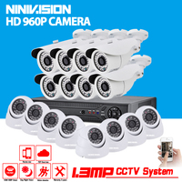 16CH AHD 1080N 3กรัมDVRชุดกล้องวงจรปิดระบบเฝ้าระวังวิดีโอ16x960จุดความปลอดภัยในร่มกลางแจ้งกล้องบันทึกช...