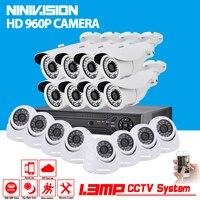 16ch ahd 1080N 3グラムdvrキットcctvビデオ監視システム16 × 960 p屋内屋外セキュリティカメラ記録セット16チャンネ