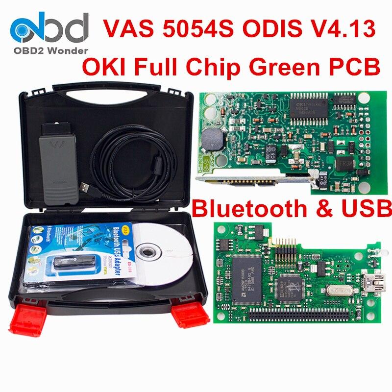 imágenes para Mejor Precio VAS 5054A OKI Chip Completo OBD2 Escáner de Diagnóstico VAS5054A ODIS V4.13 Activación Gratis VAS5054 Bluetooth VAS 5054 UDS
