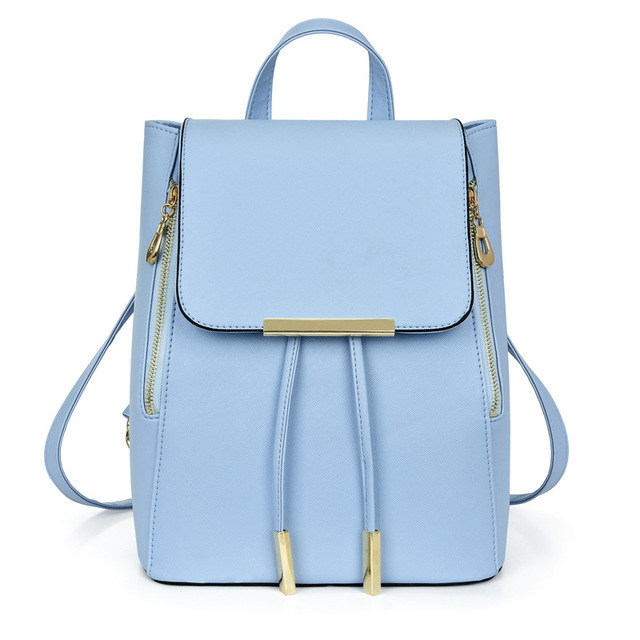 brief stylish women leather backpack casual college wind brand