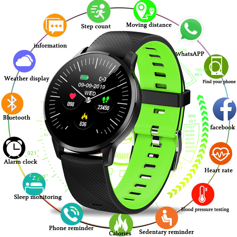 WISHDOIT Sport Watch Women Men IP67 Waterproof Fitness Tracker Blood Pressure Heart Rate Monitor LED Smart Watch For Android iosWISHDOIT Sport Watch Women Men IP67 Waterproof Fitness Tracker Blood Pressure Heart Rate Monitor LED Smart Watch For Android ios