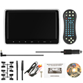 10.1 Inch TFT Digital LCD Screen  DVD Player Touch Button Monitor 720p with HDMI USB SD Port Remote Control