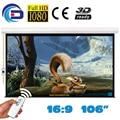 106 polegada 16:9 tela projetor projeção elétrica Pantalla Proyeccion WFFG para LED LCD HD filme tela de projeção motorizada