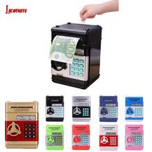 Electronic Piggy Bank ATM Mini Money Box Safety Password Chewing Coin Cash Deposit Machine Gift for Children Kids Christmas Gift