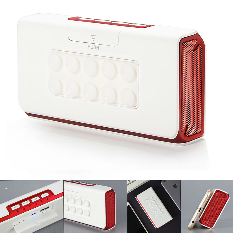 PORTABLE <font><b>BLUETOOTH</b></font> <font><b>SPEAKER</b></font> WITH POWER BANK , BUILT-IN 5200MAH CHARGEABLE BATTERY, <font><b>SUCTION</b></font> <font><b>CUP</b></font> TO <font><b>MOUNT</b></font> ON THE PHONE FOR HANDFREE