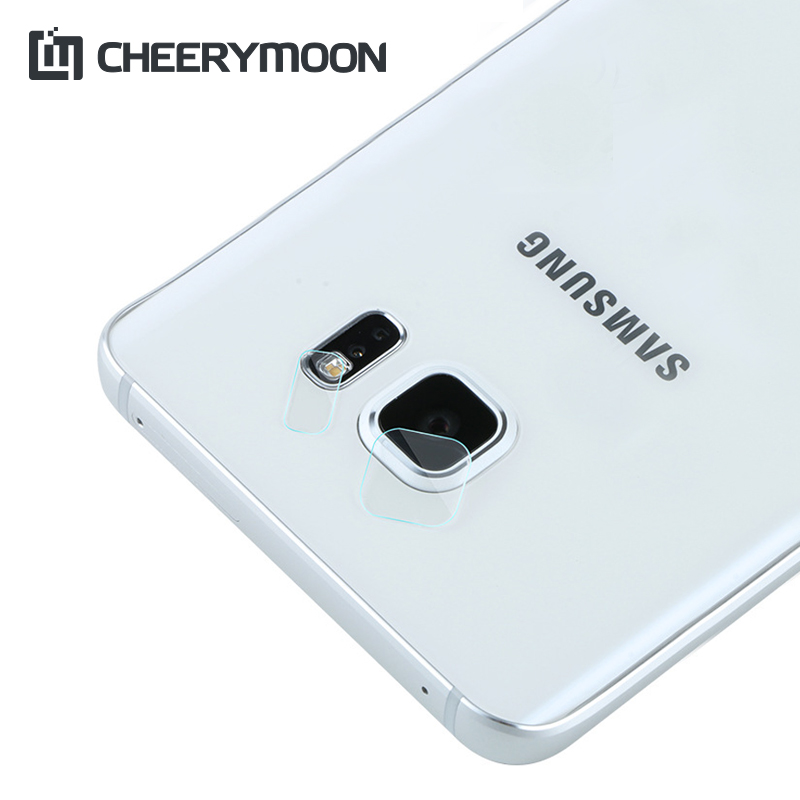 CHEERYMOON Camera Lens/Flash Film For Samsung Galaxy S6 Edge G9250 Protector HD Film 0.05mm 7.5H Tempered Glass Lens Stickers