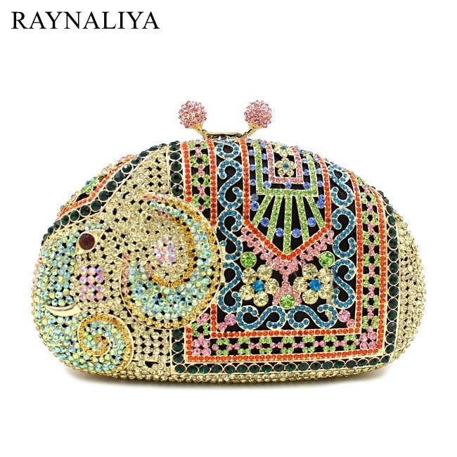 Crystal Rhinestones For Ladies Evening Bags Classical Luxury Diamond Bag Elephant Shape Women Fashion Handbag Smyzh-e0223