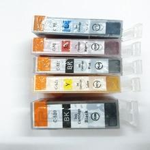Vilaxh PGI-520 CLI-521 compatible ink cartridge For canon PIXMA MP540 MP550 MP560 MP620 MP630 MP640 iP3600 ip4600 ip4700 printer 5pcs pgi 520 cli 521 compatible ink cartridges for canon pixma ip3600 ip4600 ip4700 mx860 mx870 printer pgi520 cli521 pgi 520