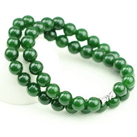 Bead Necklace Spinach Green Male Beads 10mm Necklace Chain