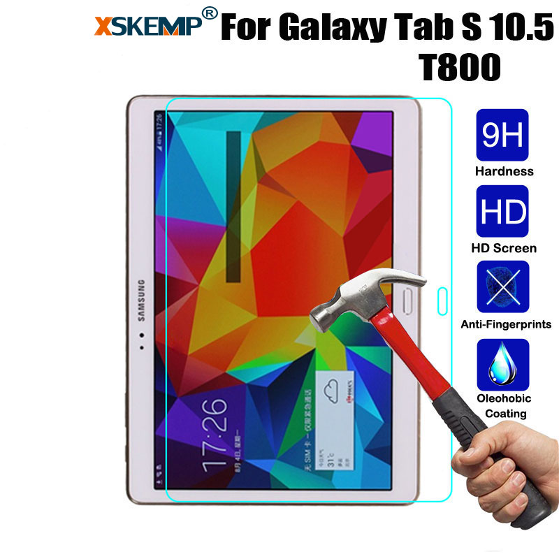 XSKEMP 9 H жесткий Настоящее закаленное Стекло Экран Защитная пленка для samsung Galaxy Tab S 10,5 SM-T800 T805 анти -взрыв планшета гвардии