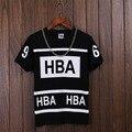 Homme Femme QUENTE homens Capuz por HBA Ar 69 t camisa moda verão 2016 new roupas de skate juventude ocasional de fitness Tshirt