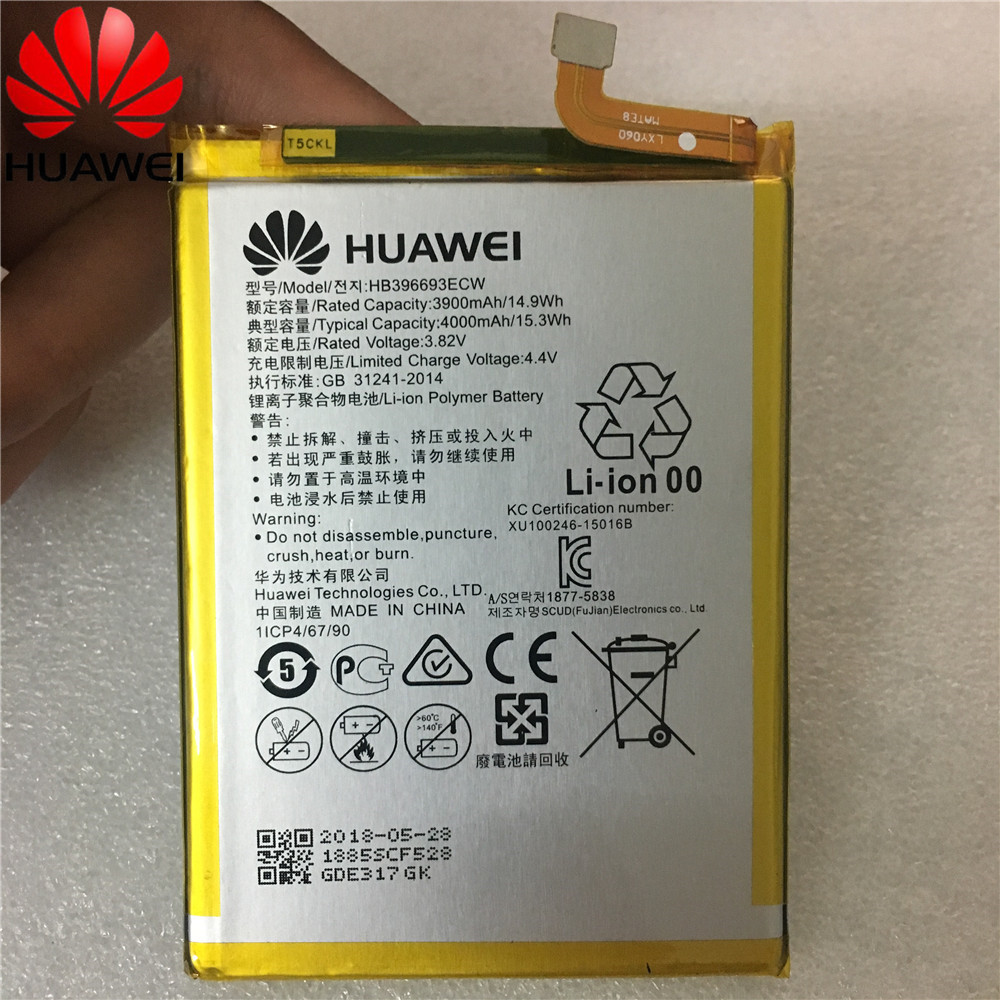 Original For Huawei HB396693ECW Rechargeable Li-ion Phone Battery For Huawei Mate 8 NXT-AL10 NXT-TL00 NXT-CL00 NXT-DL00 Mate8