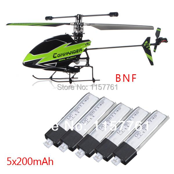 Reemplazo nuevo Plug WLtoys V911-1 4CH helicóptero verde BNF + 5 unidades 200 mAh baterías