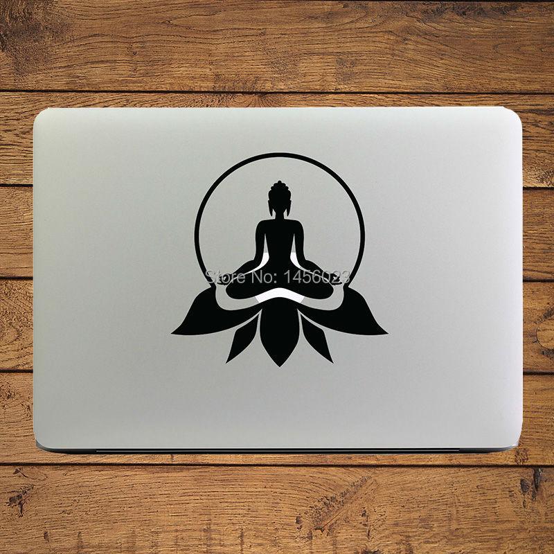 Buddha ședința pe Lotus Agora autocolant Decal Decal pentru MacBook - Accesorii laptop