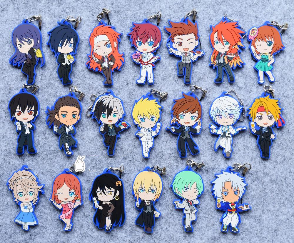 Tales of Vesperia Xillia Abyss Graces Anime Rubber Strap Keychain Charm Key Ring