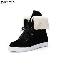 QZYERAI Nowy nabytek zimą ciepło niski obcas buty żeński super zachowania ciepła sexy kobiet buty kobiet buty