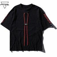 Aelfric Eden Long Line Men T Shirt Summer Oversize Black Short Sleeve Tee Shirt Hip Hop