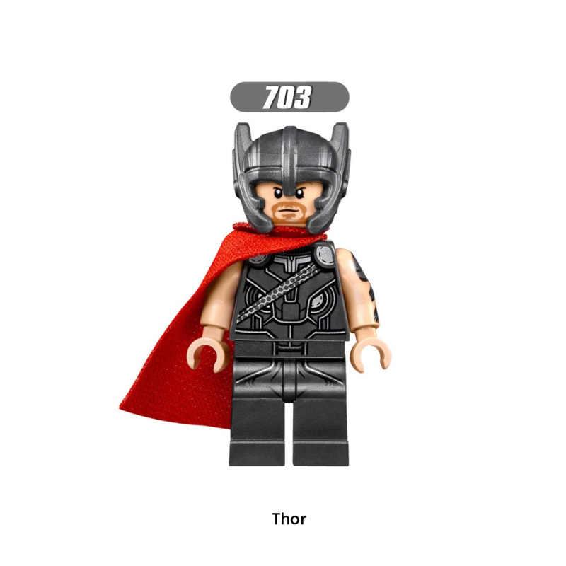 Única Venda Super Heróis Thor Bruce Banner Hela Berserker Crânio Vermelho Valkyrja Mandarian Blocos Crianças Brinquedos de Presente