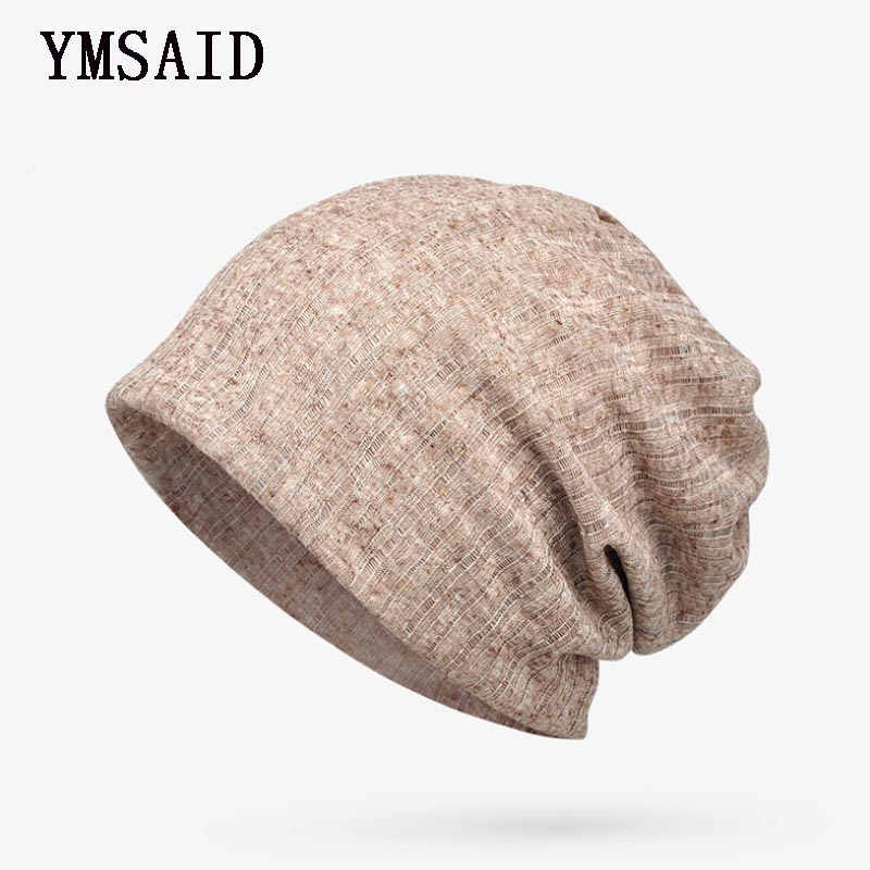 Ymsaid Brand Summer Thin Breathable Men Women Knitted Caps Summer Bonnet Hat   Skullies     Beanies   Multifunction Hedging Cap