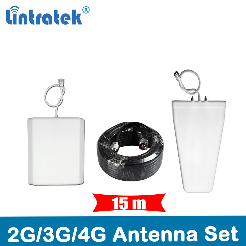 15 Meters Cable Antenna Full Set Accessories for 2G GSM 900/1800MHz 3G 850/2100MHz 4G 2600MHz Mobile Signal Repeater Booster @4515 Meters Cable Antenna Full Set Accessories for 2G GSM 900/1800MHz 3G 850/2100MHz 4G 2600MHz Mobile Signal Repeater Booster @45