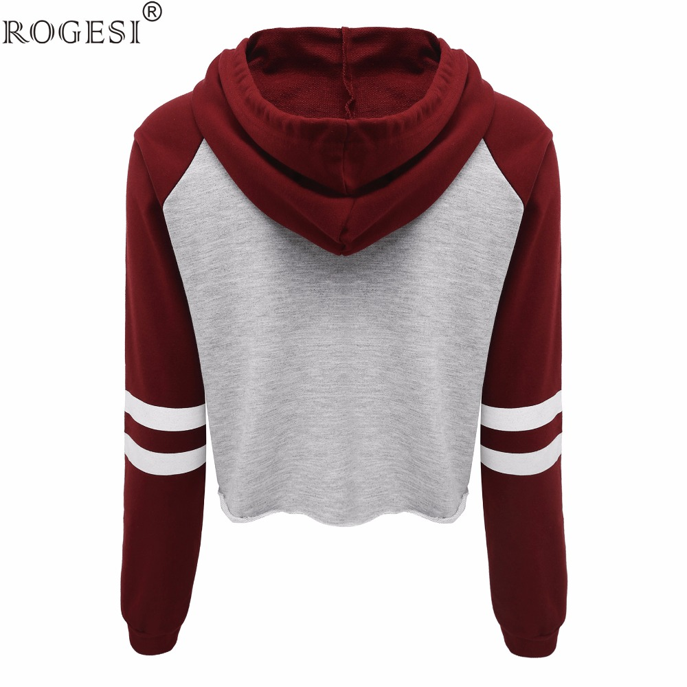 Rogesi 2016 new casual women t shirts hooded long sleeve for Short sleeve t shirts with longer sleeves