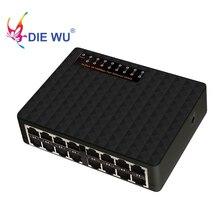 DIEWU conmutador Ethernet rápido de 16 puertos, conmutador de red RJ45 de 10/100Mbps para PC de escritorio, Envío Gratis