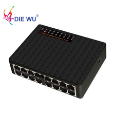 Diewu interruptor ethernet rápido, 16 portas 10/100mbps rj45 interruptor de rede hub para pc desktop frete grátis