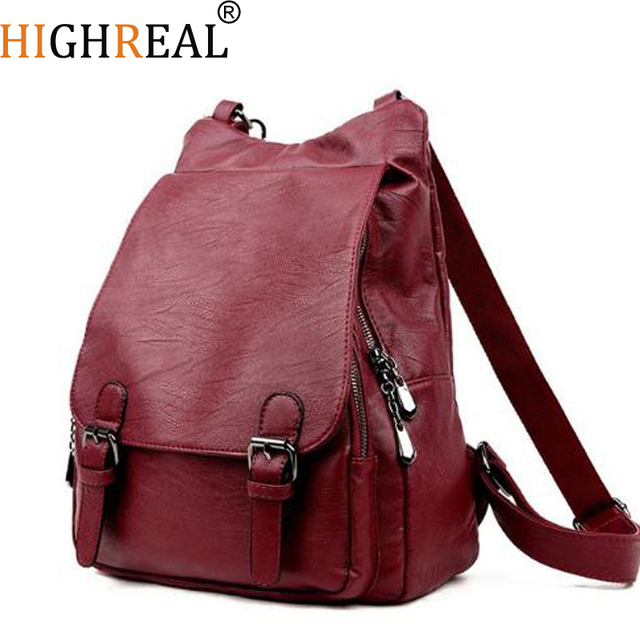 e8d1a8a35fa1 Women Backpacks Leather Female Travel Shoulder Bag Backpack High Quality Women  Bag College Wind School Bag