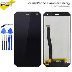 Black For myPhone Hammer Energy LCD Display+Touch Screen Assembly High Quality Digitizer Glass Panel Replacement+Tools