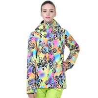 GSOU SNOW 2019 Women Skiing Suit High Quality Snowboarding Coat Thicken Warmth Waterproof Windproof