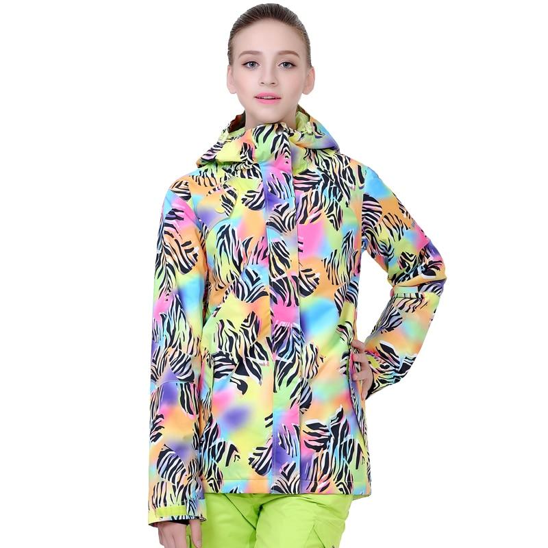 GSOU SNOW 2019 femmes ski costume haute qualité snowboard manteau épaissir la chaleur imperméable coupe-vent