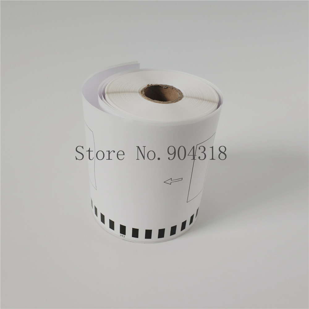 10 Rolls of Brother DK-2243 Compatible Tape 4 x 100 by OFFICE LABELS Without Holder