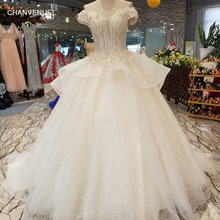 LS31774 sweetheart shiny wedding gown 2018 with sequin sexy off shoulder lace  up back bridal wedding cheap dress with peplum 885f3923caba