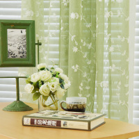 European Style Jacquard Design Sheer Panel Tulle Curtain For Living Room And Balcony Organza Fabrics European